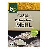 biozentrale Kichererbsenmehl Bio Glutenfrei | 2 x 400g Bio Kichererbsenmehl & Protein Mehl | Mandelmehl, Kokosmehl und Guarkernmehl Alternative