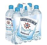 Gerolsteiner Naturell, Natürliches Mineralwasser ohne Kohlensäure, natriumarm, 6 x 0,75 L PET Einweg