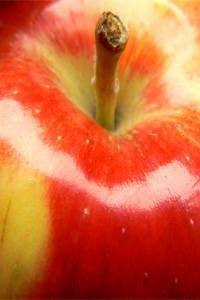 Ein Apfel hat sehr wenig Kalorien und ist gesund