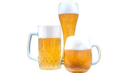 Bier hat nicht viele Kalorien