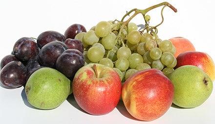 Obst hat nicht so viele Kalorien