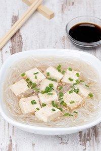 Kaloriengehalt von Tofu.