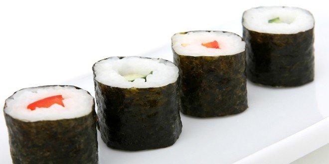 Sushi Kalorien und Nährwerte, Sushi ist fettarm und hat wenige Kalorien.