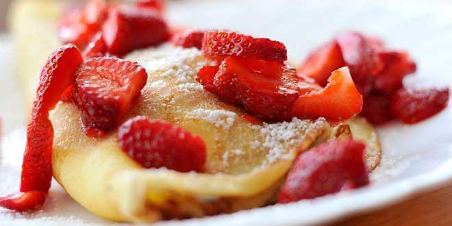 Pfannkuchen sind ein schnelles, leckeres Essen.