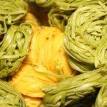 Karotten-Tagliatelle mit Garnelen oder Schrimps