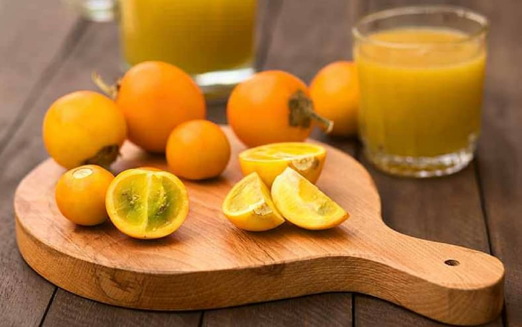 Kalorien Lulo Naranjilla, sowie Nährwerte und Vitamine
