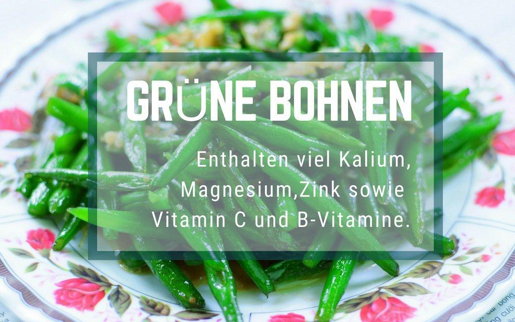 Grüne Bohnen enthalten viele Vitamine